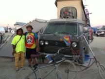 Westie at Burning Man 2011