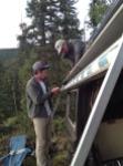 Ryan and Josh making repairs