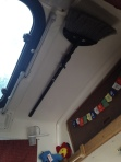 broom on the ceiling