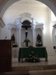 The altar of the Aconchi church.