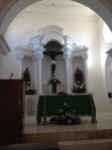 The altar of the Aconchi church.