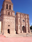 Arizpe church.  Strong like a fortress.