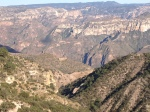 If you look closely you can see some of the trails that the Tarahumara use to get to the river Urique at the bottom.