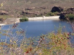 This elaborate dam with spillways created a beautiful reservoir.