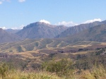 Interesting alluvial fans at the base of the Sierra Madre.