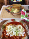 Cheese enchilada's and Chile relleno's in Yecora.