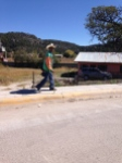 This is the typical look we get as we cruise through a small, Mexican village.