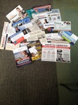 A pathetic pile of political propaganda in our PO box.