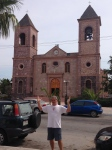"""Mikes says-""""the spires of this church go like this!"""""""