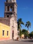 The beautiful Loreto mission along the walkway.