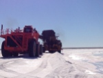 picking up salt into trailers