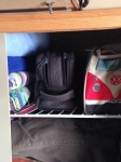 bathroom bags and towels