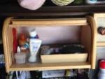 medicine cabinet open