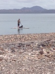 Can hardly beat spending New Years Eve on a paddle board in the Sea of Cortez.  Zeb is relaxing on his turn!