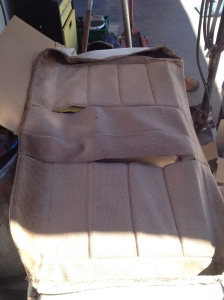 old seat cover