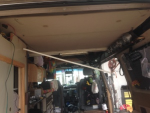 AC cabinet is removed.  Fan wiring and fan moved to other side of van.