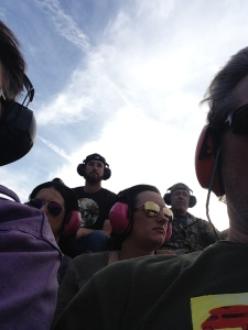 Here are the people that rode the airboat with us.  We had the front row= bugs in the teeth seats!!