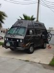 camped in Galveston