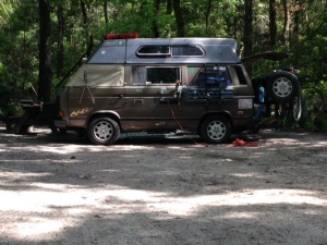 Campsite at Manatee Springs.  We did not see a manatee but we had a great paddle on the Suwannee River.