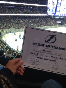 hockey tampa certificate