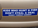 kids who hunt and fish dont steal and deal