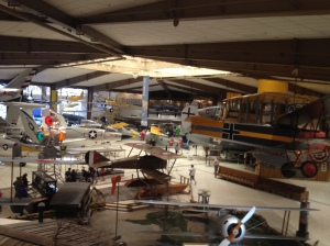 The Naval Air Museum in Pensacola has a huge amount of aircraft.