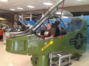 Mike is really enjoying the Naval Air Museum in Pensacola.