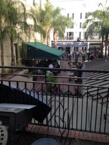public park, live music