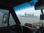 riding a ferry in Texas