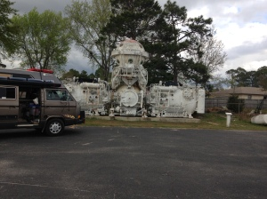Found this quirky little spot using Roadside America app.  An underwater laboratory on display.