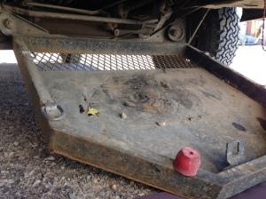 -skid plate lowered