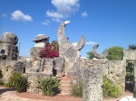 The Coral Castle is a bizarre and beautiful location in Homestead, Florida.  Made of hand cut blocks and shapes of coral stone.