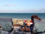 Oceanfront sunset dinner in the Keys.