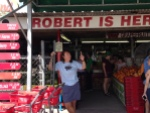 Robert Is Here is a fantastic produce stand in Homestead, Florida.  They also sell fresh-fruit milkshakes.  We stopped so many times that the parking lot guy recognized us and welcomed us back!