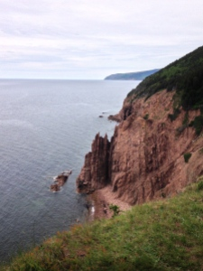 cliffs of moose cape where we camped