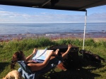 relaxing at PEI NP
