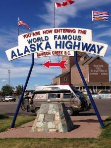 Alaska highway in Dawson Creek