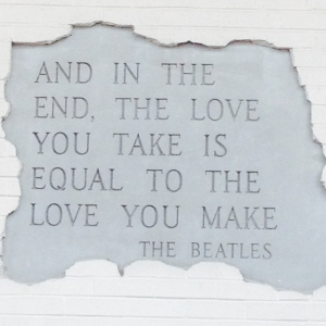 Beatles quote- love