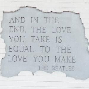 Beatles quote- love