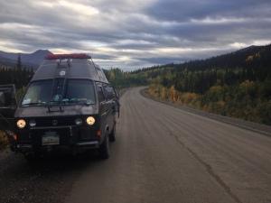 dempster highway van driving