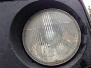 first damage headlight alaska highway