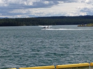 Float plane departing