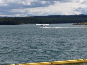 Float plane departing