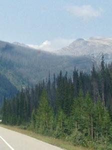 Kootenay fire in distance