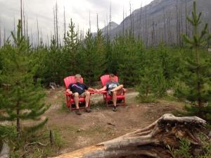 Red chairs Kootenay