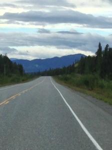 typical alaskan highway stretch