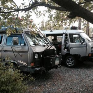 Vanagon driveway campsite