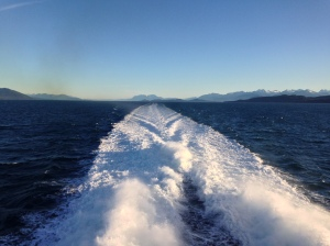 Cruising in the fast ferry