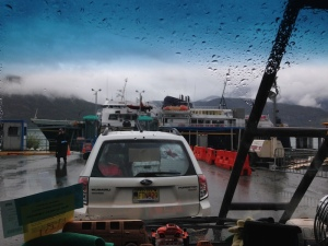 Driving on to ferry