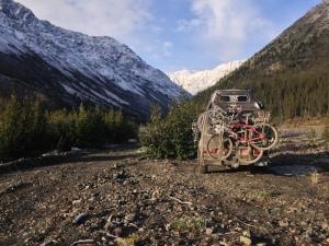 Glacial peaks near Destruction Bay Yukon